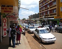 A street in the center of Nyeri