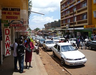 Nyeri City in Nyeri County, Kenya