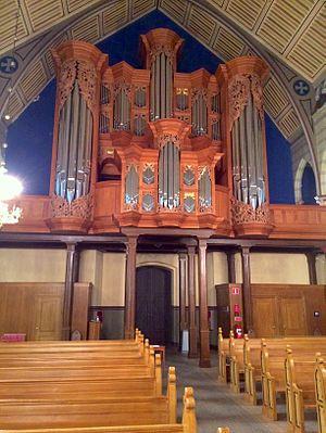 North German baroque organ in Örgryte Nya Kyrka - Façade of the organ