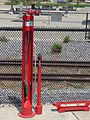 Ogden Intermodal Transit Center bicycle repair stand.JPG