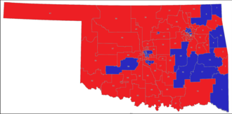 Oklahoma House of Representatives - Image: Oklahoma house districts sept 2017