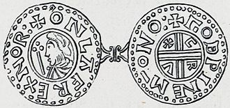 Olaf Tryggvason - Only known type of coin of Olaf Tryggvason, in four known specimens. Imitation of the Crux-type coin of Æthelred the Unready.