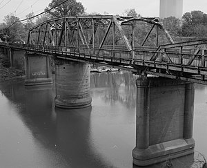 National Register of Historic Places listings in Lowndes County, Mississippi - Image: Old Tombigbee River Bridge at Columbus