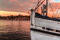 Old ship and magic sunset at Strandvägen, Stockholm - panoramio.jpg