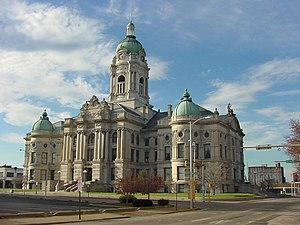 Vanderburgh County, Indiana - Image: Oldcourthouse