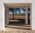 Olive tree plantation seen through an arch, Marmelar, Vidigueira, Portugal (PPL3-Altered) julesvernex2.jpg