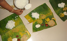 onam  onam harvest festival is marked a special feast lunch on last day and includes rice and a sweet at the end