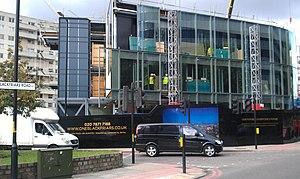 One Blackfriars - Three-storey marketing building under construction, October 2013