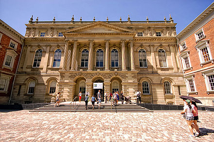 Osgoode Hall houses the Court of Appeal for Ontario, the appellate court for the province. One of Osgoode Hall facade during Doors Open Toronto event, 2010.jpg