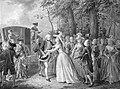 Ontmoeting van prinses Wilhelmina met haar broer koning Frederik III van Pruisen te Kleef, 1788, Willem Joseph Laquy, 1788 - 1798.jpg