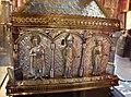 Orafo aostano, cassa-reliquiario della mandibola di san grato, 1450 circa (aosta, collegiata dei ss. pietro e orso) 05,2.JPG