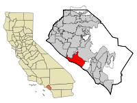 Orange County California Incorporated and Unincorporated areas Newport Beach Highlighted.svg