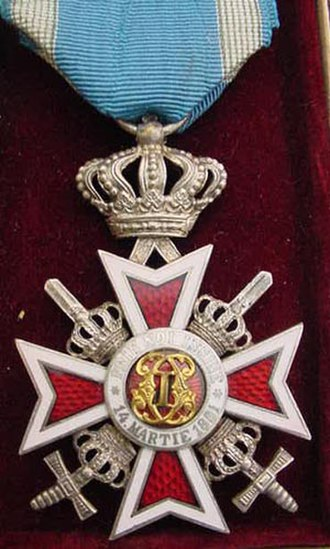 Order of the Crown (Romania) - Knight's Cross with swords (used after 1932)