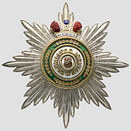Order of St. Stanislas (Russia) Grand Cross Star with Crown