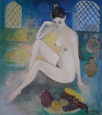 Khachik Abrahamyan - Image: Oriental Mativ 2004 Oil on Canvas 90cmx 80cm