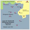 Ortenburg-Tambach Karte nach 1814.png