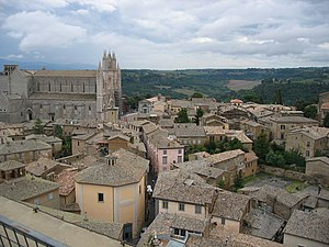 Pope Martin IV - The Cathedral and town of Orvieto