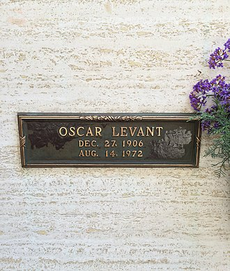 Oscar Levant - Crypt of Oscar Levant at Westwood Memorial Park