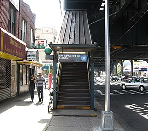 104th Street (IND Fulton Street Line) - Southeastern stair