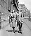 Páros portré, 1943 Budapest. Fortepan 3057.jpg