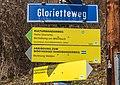 Pörtschach Leonstein Glorietteweg Straßenschild Wegweiser 29032020 8592.jpg