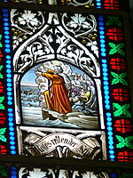 Pötting Kirchenfenster 13 Moses am roten Meer