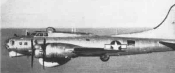 PB-1W Fortress fully armed in flight c1946