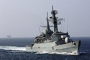HMS Avenger (F185) - Image: PNS Tippu Sultan former HMS Avenger