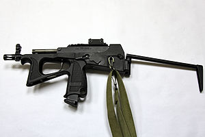 PP-2000 - PP-2000 with Zenit-4TK laser sight, unfolded buttstock view
