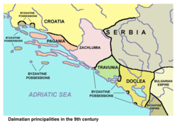 Travunia in 9th century