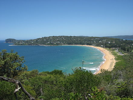 Palm Beach in Sydney's Northern Beaches district has been used to represent Summer Bay since Home and Away began in 1988. Palm Beach NSW.jpg
