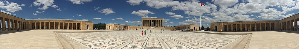 Anıtkabir, the mausoleum of Mustafa Kemal Atatürk, in Ankara, Turkey.