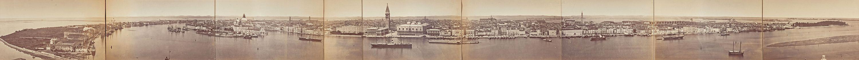 1870s panoramic view of Venice