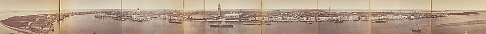 1870s panoramic view of Venice