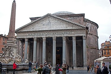Pantheon facade and Macuteo obelisk 2010.jpg
