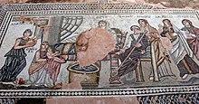 Paphos Haus des Theseus - Mosaik Achilles 1.jpg