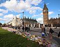 Parliament Square floral tributes.jpg
