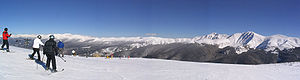 Winter Park Resort - View looking north from the top of Parsenn Bowl prior to the construction of the Panoramic Express.