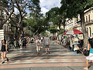 Paseo del Prado, Havana Promenade in Havana, Cuba