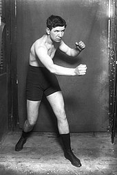 Pat O'Keeffe. The first middleweight to win the Lonsdale belt. 1918.