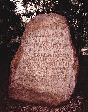 Paul Tillich - Tillich's gravestone in the Paul Tillich Park, New Harmony, Indiana.