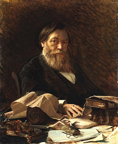 Портрет писателя П.И.Мельникова. Иван Крамской, 1876