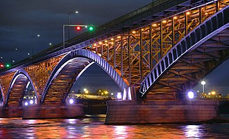 Peace Bridge - Peace Bridge from Fort Erie, with new lighting retrofit