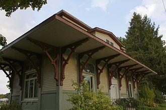 Peace Dale, Rhode Island - Image: Peace Dale Railroad Station (former)