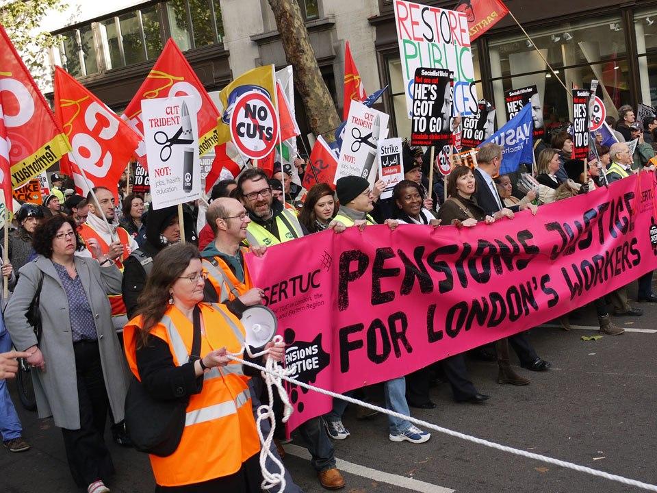 Pensions strike Aldwych