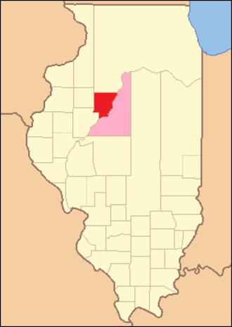 Peoria County, Illinois - Image: Peoria County Illinois 1825