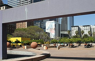 Pershing Square (Los Angeles) - Paved areas and design of the modern Pershing Square
