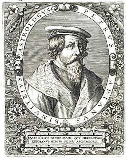 Petrus Apianus 16th-century German astronomer, mathematician, and cartographer