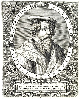 Petrus Apianus - Apianus on a 16th-century engraving by Theodor de Bry