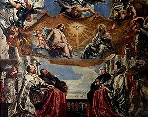 The Gonzaga Family in Adoration of the Holy Trinity - Image: Peter Paul Rubens The Gonzaga Family Worshipping the Holy Trinity WGA20179